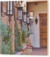 Santa Fe Garden Courtyard Wood Print