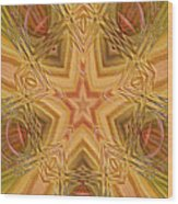 Artistic Star Of Texas Wood Print by Linda Phelps