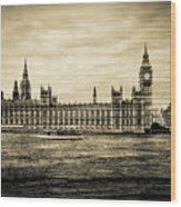Artistic Vision Of Elizabeth Tower Big Ben And Westminster Wood Print