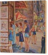 Artists Corner Rue St Jacques Wood Print