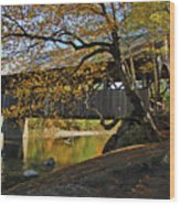 Artist's Covered Bridge Wood Print