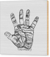 Artists Hand Variation I Wood Print