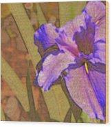 Artsy Iris Wood Print