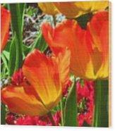 Artsy Tulips Wood Print