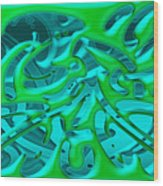 Artwork 113 Wood Print
