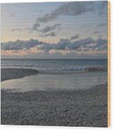Aruba Beach At Dusk Wood Print