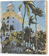 Aruba Palms Two Wood Print