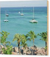 Aruba Shore Wood Print