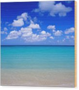 Aruba Sky And Sea Wood Print