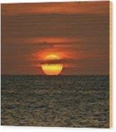 Arubian Sunset Wood Print