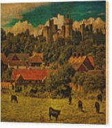 Arundel Castle With Cows Wood Print