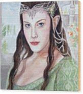 Arwen Wood Print by Mamie Greenfield