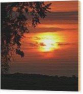 As Evening Falls Wood Print