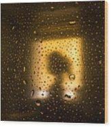 As Seen Through A Shower Door, A Girl Wood Print