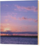 As Sun Sets Wood Print