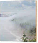 As The Fog Rolls In Wood Print