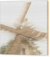As The Windmill Spins Wood Print