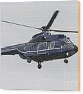 As332 Super Puma Helicopter Wood Print