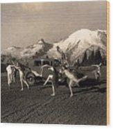 Asahel Curtis, 1874-1941, Dancing Girls At Sunrise Wood Print