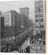 Asahel Curtis, 1874-1941, Draft Parade, Seattle Wood Print