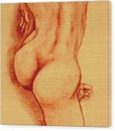 Asana Nude Wood Print