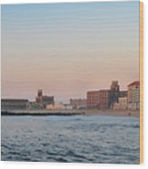 Asbury Park Boardwalk From The Beach Wood Print