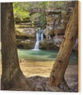 Hocking Hills Waterfall Wood Print