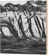 ash covered Skaftafell glacier and end moraine Vatnajokull national park in Iceland Wood Print