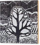 Ash Tree Wood Print by Becca Thorne