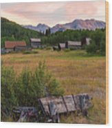 Ashcroft Ghost Town Wood Print