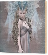 Ashen Queen Of The Mountain 2 Wood Print