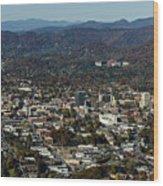 Asheville, City, Downtown, Nc, North Carolina, Mountains, Mountains, Real Estate, Blue Ridge Mountai Wood Print