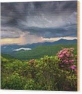 Asheville North Carolina Blue Ridge Parkway Thunderstorm Scenic Mountains Landscape Photography Wood Print