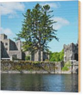 Ashford Castle And Cong River Wood Print