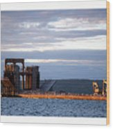 Ashland Ore Dock At Sunset Wood Print