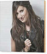 Ashley Tisdale Wood Print