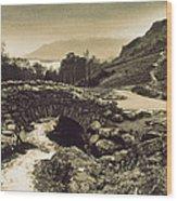 Ashness Bridge Cumbria England Wood Print