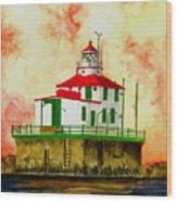 Ashtabula Lighthouse Wood Print