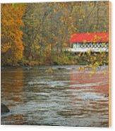 Ashuelot Bridge Wood Print by Jon Holiday