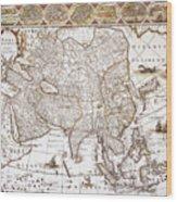 Asia: Map, C1618 Wood Print