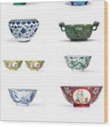 Asian Art Chinese Pottery Wood Print