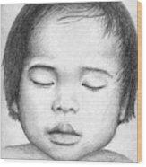 Asian Baby Wood Print