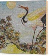 Asian Crane 3 Wood Print
