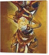 Asian Dragon Man Wood Print