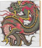 Asian Dragon Wood Print by Maria Arango