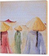 Asian Elegance Wood Print