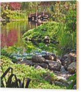 Asian Garden 3 Wood Print