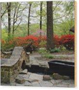 Asian Garden Wood Print