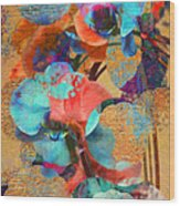 Asian Orchid Abstract Wood Print