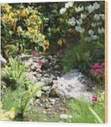 Asian Rock Garden Wood Print